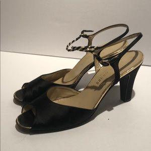 Vintage Bruno Magli for I. Magin satin heels 9.5